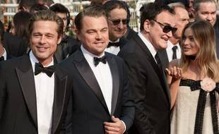 Brad Pitt, Leonardo DiCaprio, Quentin Tarantino et Mardot Robbie à Cannes le mardi 21 mai