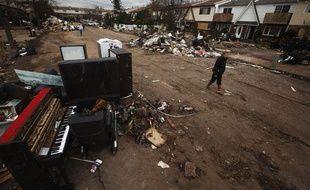 Les ravages de l'ouragan Sandy sur Staten Island (Etats-Unis), le 1er novembre 2012.