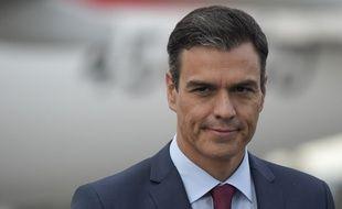 Pedro Sanchez à Bogota, le 29 août 2018.