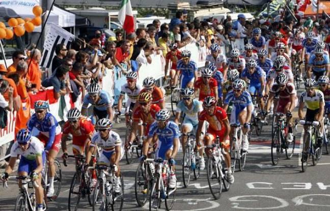 Les championnats du monde de cyclisme à Mendrisio (Suisse), le 27 septembre 2009.