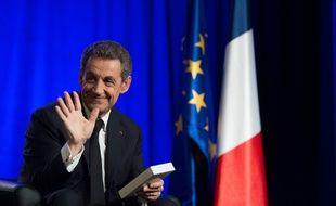 Nicolas Sarkozy à Asnières-sur-Seine le 24 mars 2015.