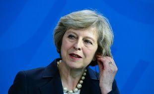 La Première ministre britannique Theresa May lors d'une conférence de presse à Berlin le 20 juillet 2016