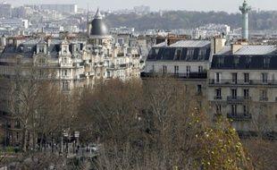 Des immeubles d'habitation dans le quartier de la Bastille, le 28 mars 2014 à Paris