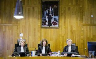Une audience de la Cour permamente d'arbitrage (CPA) le 9 février 2016 à La Haye