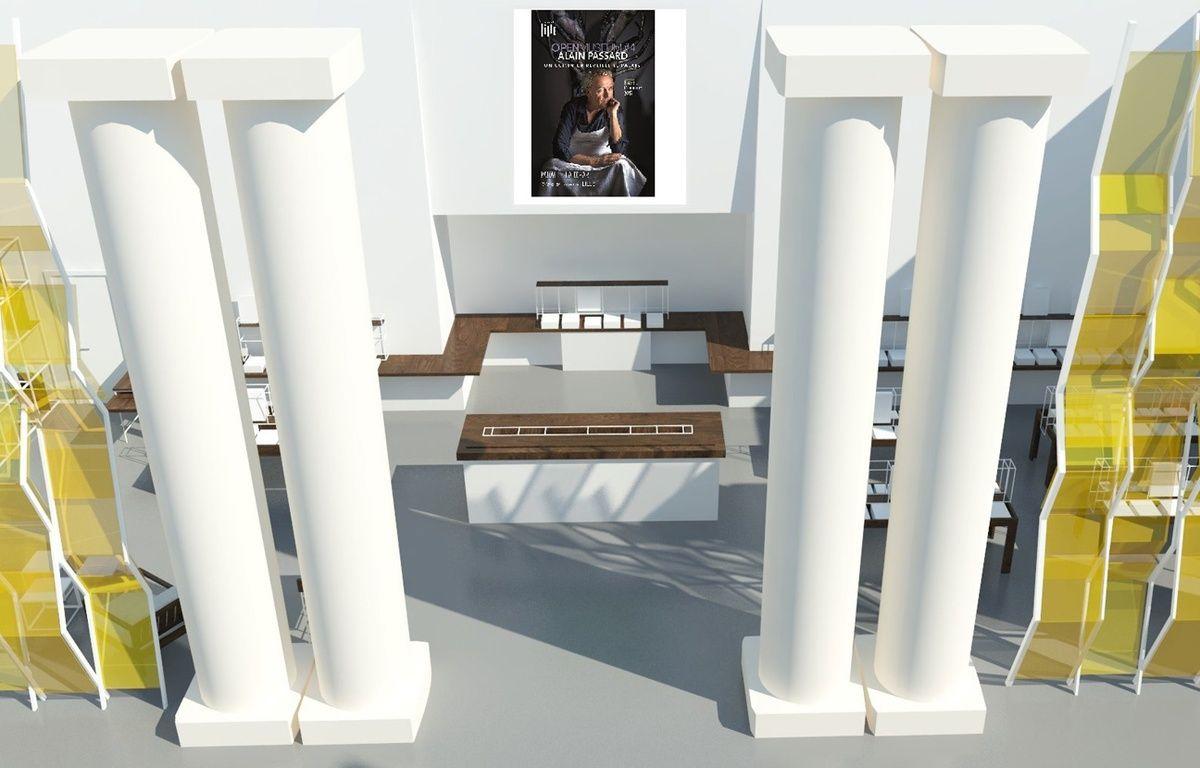 L'atrium du PBA comme il devrait être après les travaux. – Atelier Smagghe