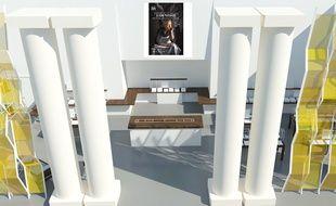 L'atrium du PBA comme il devrait être après les travaux.