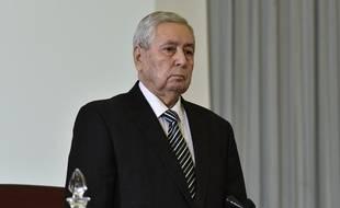 Abdelkader Bensalah, le président du Conseil de la Nation, chambre haute du Parlement algérien, a été nommé président par intérim le 9 avril 2019.