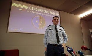 Le général Jean-Philippe Lecouffe en février 2019 lors d'une conférence de presse