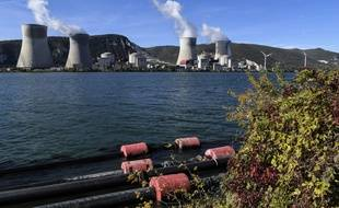 La centrale nucléaire de Cruas est située au bord u Rhône. (illustration)