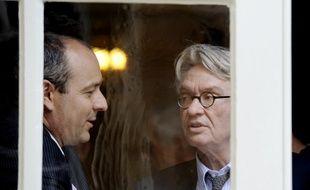 Les deux leaders syndicaux Laurent Berger (CFDT, syndicat majoritaire) et Jean-Claude Mailly (Force ouvrière), le 16 juin 2014.