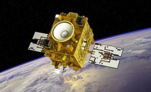 Illustration du satellite Microscope par le CNES.