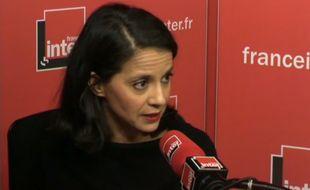 Sophia Aram au micro de France Inter, le lundi 16 novembre 2015.