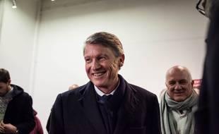 Vincent Peillon, candidat a la primaire de gauche pour la présidentielle de 2017 se rend a la soirée de soutien après le dernier débat de la primaire, le 19 janvier 2017, à Paris.