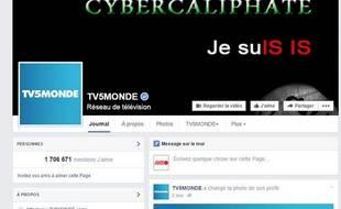 La page Facebook de TV5Monde détournée par un groupe se réclamant de Daesh.