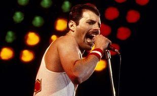 Freddie Mercury en concert en 1982