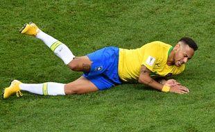 Neymar, dans sa position préférentielle