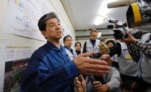 Akira Ono, le directeur de la centrale de Fukushima Daiichi, à Fukushima le 10 mars 2014