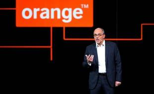 Le PDG d'Orange Stéphane Richard à Paris le 16 mars 2016