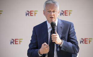 Bruno Le Maire, lors de la Rencontre des Entrepreneurs de France, organisée par le Medef du 24 au 26 août 2021.