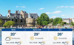 Météo Nantes: Prévisions du vendredi 23 août 2019.