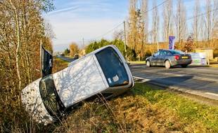illustration: Un accident de la route en France.