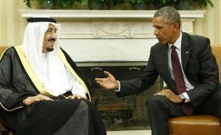 Le roi Salmane d'Arabie saoudite et le président Barack Obama à la Maison Blanche à Washington, le 4 septembre 2015