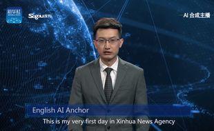 La première intelligence artificielle capable de présenter le journal télévisé.