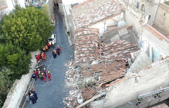 La maison s'est effondrée à Poussan