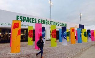 """L'espace """"Générations climat"""" a ouvert ses portes le 1er décembre au Bourget."""