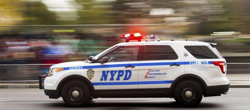 Illustration d'une voiture de police de New York.