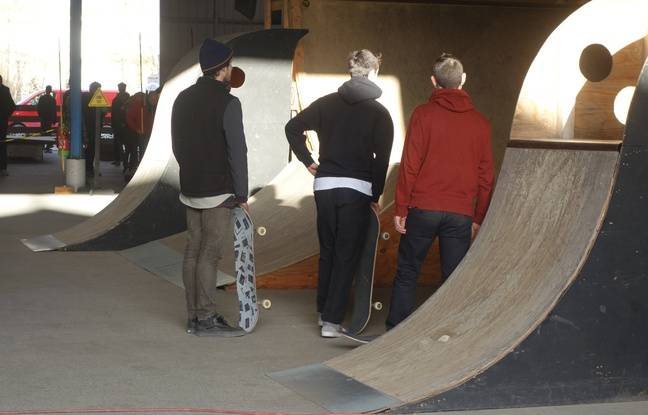 Le skate park a été entièrement construit par les responsables de l'association.