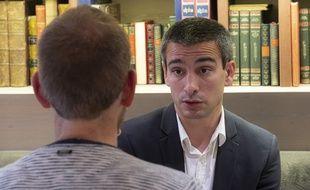 Yann Cucherat, ici le 12 juin dans une brasserie lyonnaise, lors de l'entretien qu'il a accordé à « 20 Minutes ».
