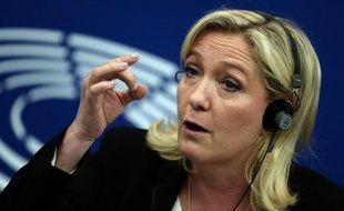 La présidente du Front national et députée européenne Marine Le Pen, le 10 juin 2015 au Parlement européen à Strasbourg.