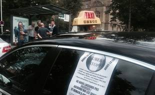Grève des taxis à Strasbourg le 25 juin 2015.