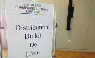 Strasbourg, le 4 janvier 2015. - Les conseillers régionaux d'Alsace-Champagne-Ardenne-Lorraine ont reçu un Ipad et un Iphone lors de la première assemblée.