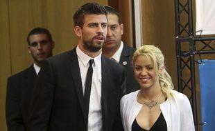 Shakira et son compagnon Gerard Piqué.