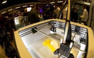 Une imprimante 3D exposée à Paris, le 15 novembre 2013