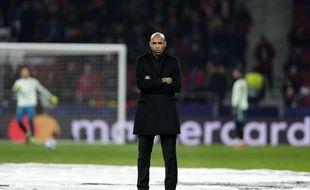 Thierry Henry avant le match contre l'Atlético de Madrid.