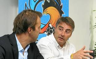 Toni Garcia (à droite) au côté du président toulousain Philippe Dallard.