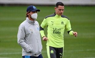 AVB et Florian Thauvin à l'entraînement avant Porto.