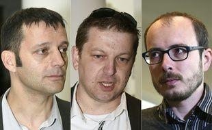 Edouard Perrin, Raphaël Halet et Antoine Deltour (de g. à dr.).