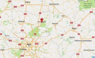 La ville de Compiègne, dans l'Oise.