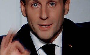 Emmanuel Macron lors de son allocution du 28 octobre 2020.