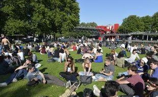 Le parc de la Villette le 18 juin 2014