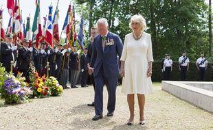 Le Prince Charles et Camilla, lors de la cérémonie du 8-Mai, à Lyon.
