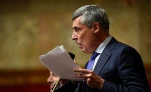 Henri Guaino lors des questions au gouvernement à l'Assemblée nationale le 28 octobre 2015 à Paris