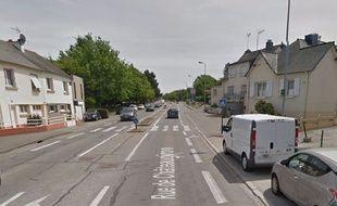 L'accident a eu lieu à hauteur du 174 rue de Châteaugiron à Rennes.