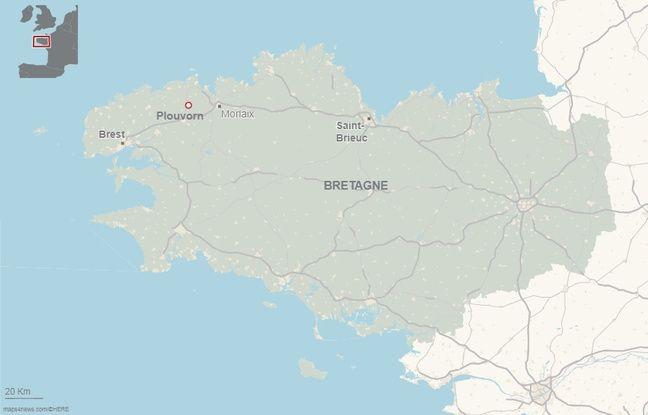 L'accident s'est produit ce vendredi matin au niveau de la commune de Plouvorn dans le Finistère.