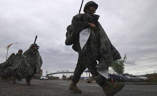 Des soldats sud-coréens en exercice en 2018 à Pohang.