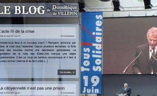 capture d'écran du site internet de Dominique de Villepin.